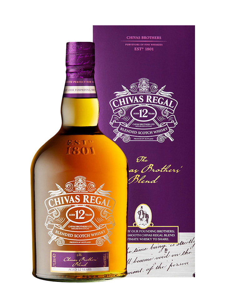Chivas Regal 12 Year Old Brother's Blend Blended Scotch Whisky 1L