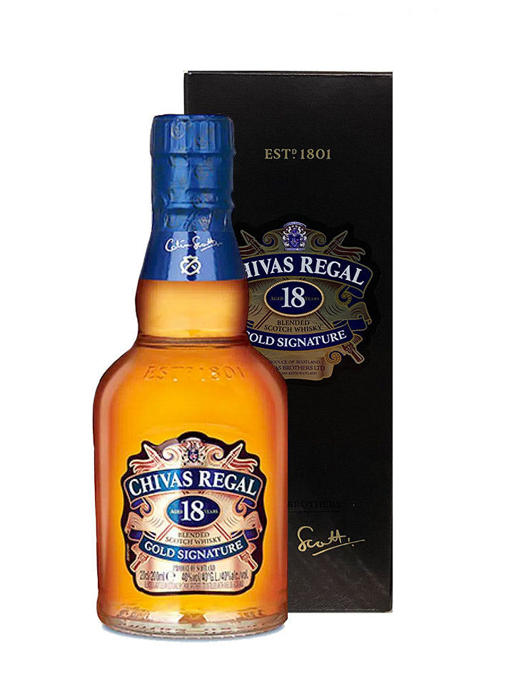 Chivas Regal 18 Year Old Gold Signature Scotch Whisky 200mL