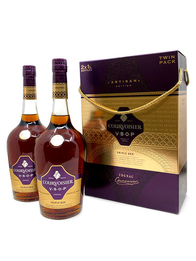 Courvoisier VSOP Triple Oak Artisan Edition Twin Pack Cognac 1L
