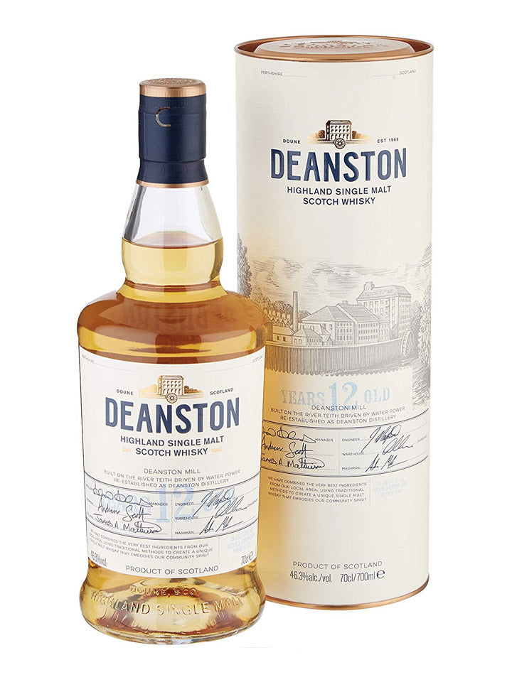 Deanston 12 Year Old Highland Single Malt Scotch Whisky 700mL