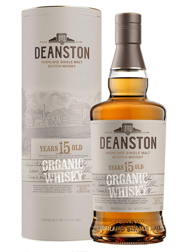 Deanston 15 Year Old Organic Single Malt Scotch Whisky 700mL