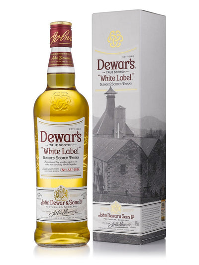 Dewar's White Label With Gift Box Blended Scotch Whisky 1L