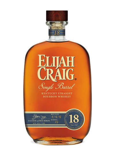 Elijah Craig 18 Year Old Kentucky Straight Bourbon Whiskey 750mL