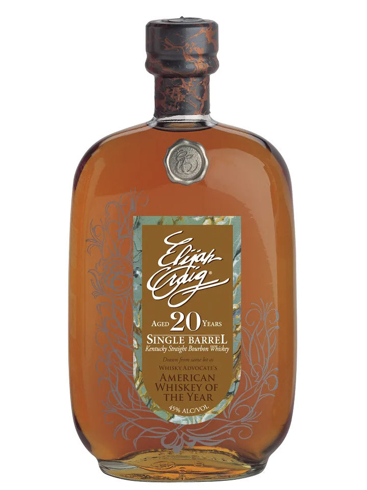 Elijah Craig 20 Year Old Kentucky Straight Bourbon Whiskey 750mL
