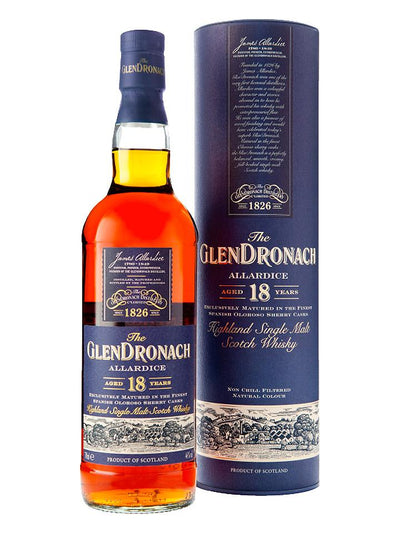 GlenDronach Allardice 18 Year Old 2019 Batch Single Malt Scotch Whisky 700mL