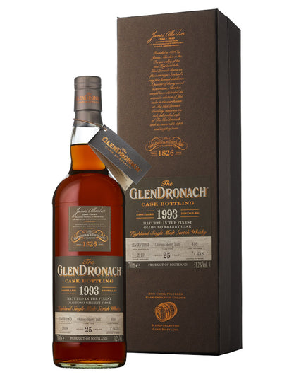 Glendronach 25 Year Old 1993 Cask#416 Batch 17 Single Malt Scotch Whisky 700mL