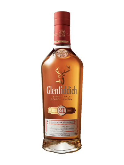 Glenfiddich 21 Year Old Reserva Rum Cask Finish Single Malt Scotch Whisky 700mL