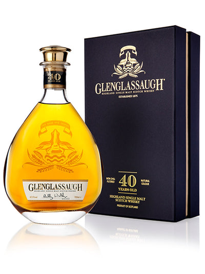 Glenglassaugh 40 Year Old Deluxe Highland Single Malt Scotch Whisky 700mL