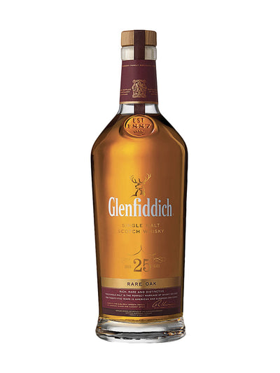 Glenfiddich Rare Oak 25 Year Old Single Malt Scotch Whisky 700mL