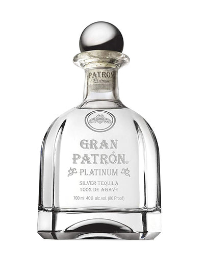 Gran Patron Platinum Silver 100% Agave Tequila 750mL