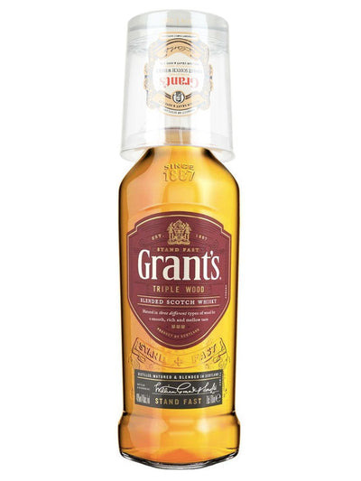 Grant's Triple Wood Blended Scotch Whisky 700mL + Collectors Glass