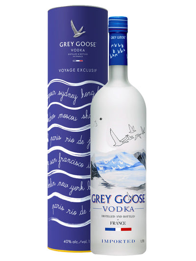 Grey Goose Riviera Limited Edition With Gift Tin French Vodka 1L