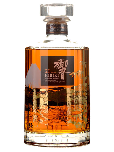 Hibiki 21 Year Old Mount Fuji Kacho Fugetsu Limited Edtion Blended Suntory Whisky 700mL