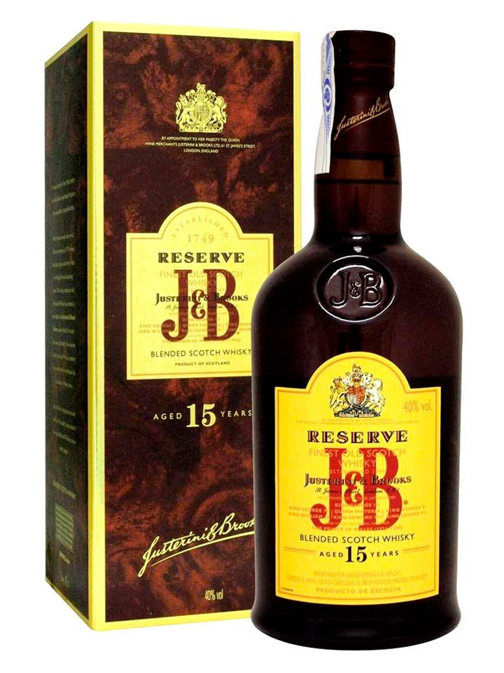 J&B Rare 15 Year Old Reserve Blended Scotch Whisky 1L