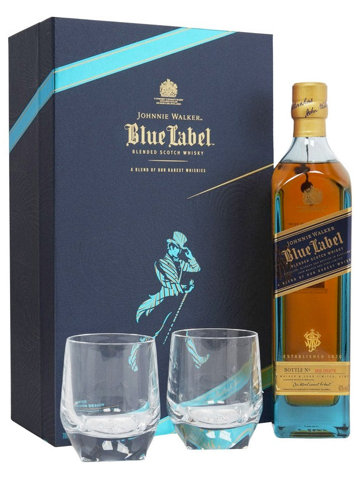 Johnnie Walker Blue Label + 2 Glasses Richard Malone Edition Blended Scotch Whisky 700mL