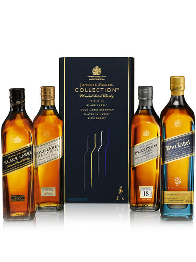 Johnnie Walker Collection Gift Set Blended Scotch Whisky 4 x 200mL