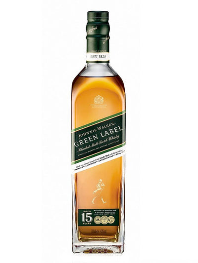 Johnnie Walker 15 Year Old Green Label Blended Scotch Whisky 700mL