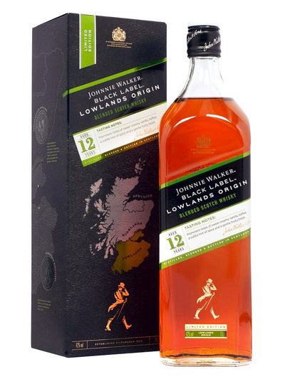 Johnnie Walker Black Label Lowlands Origin 12 Year Old Blended Scotch Whisky 1L