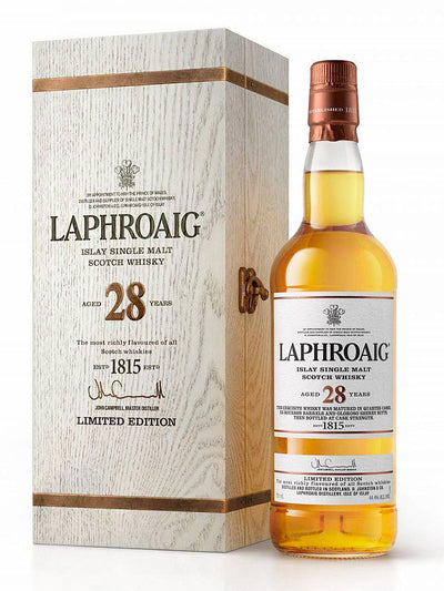 Laphroaig 28 Year Old Cask Strength Limited Edition Single Malt Scotch Whisky 700mL