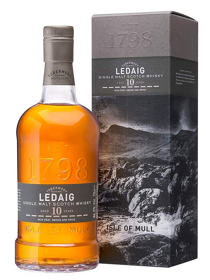 Ledaig 10 Year Old Single Malt Scotch Whisky 700mL