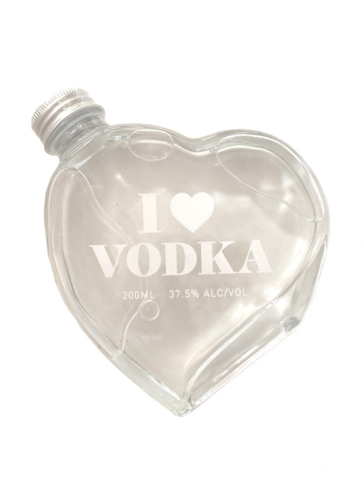 I Love Vodka Heart Shaped Bottle 200mL