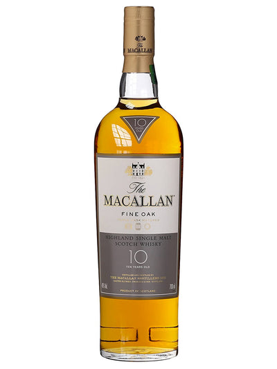 The Macallan 10 Year Old Fine Oak Single Malt Scotch Whisky 700mL