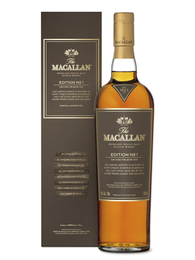The Macallan Edition No. 1 Single Malt Scotch Whisky 700mL