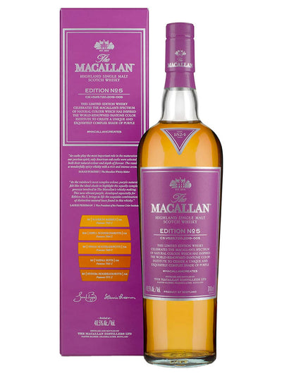 The Macallan Edition No. 5 Single Malt Scotch Whisky 700mL