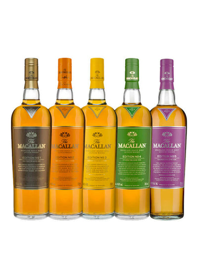 The Macallan Edition Limited Edition Collection Set (No.1 - 5) 5 x 700mL