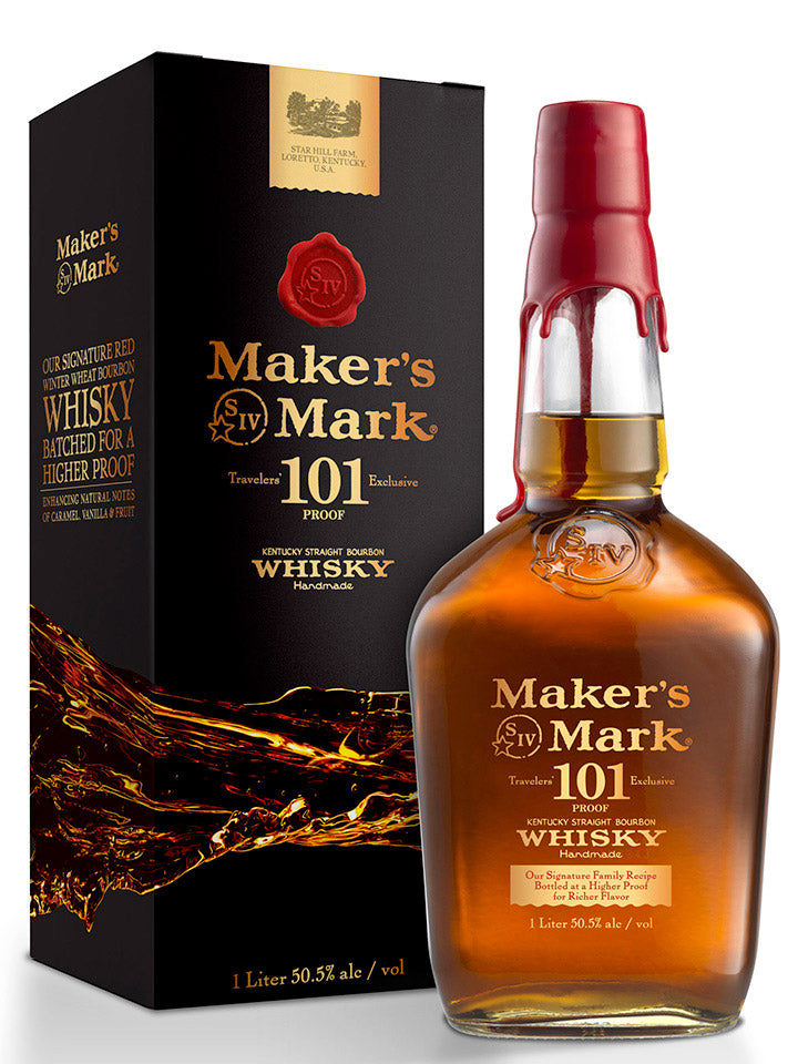 Makers Mark 101 Proof Kentucky Straight Bourbon Whisky 1L