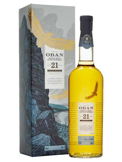Oban 21 Year Old Cask Strength Limited Edition Single Malt Scotch Whisky 700mL