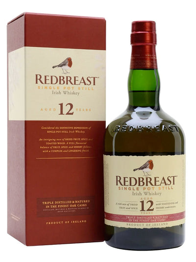 Redbreast 12 Year Old Single Pot Still Irish Whiskey 700mL