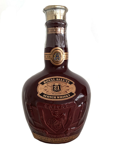 Chivas Regal Royal Salute 21 Year Old Wade Ceramic Red Scotch Whisky 500mL