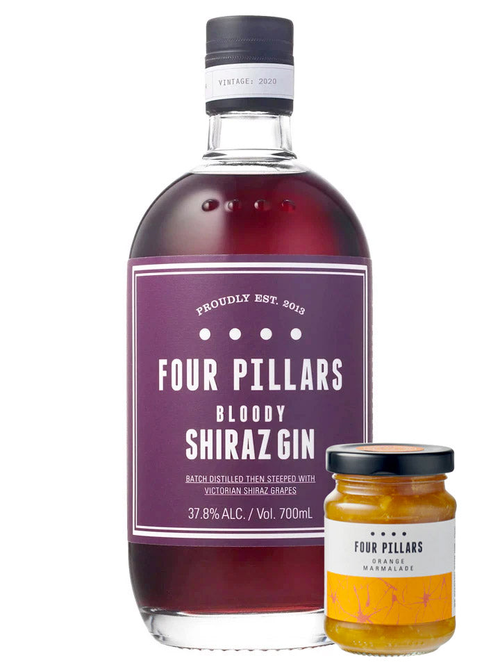 Four Pillars Bloody Shiraz Gin 2020 + Jam 700mL