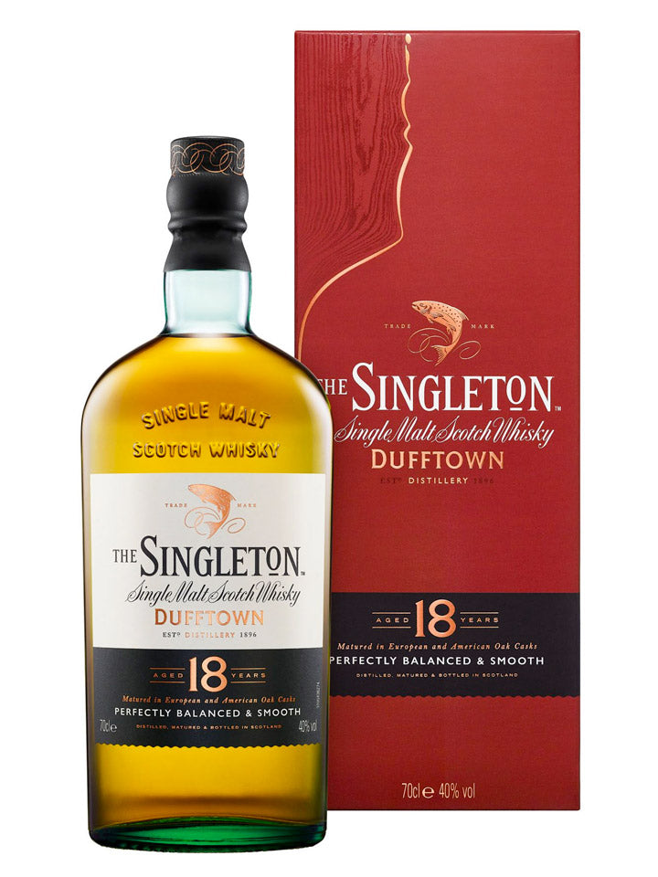 Singleton of Dufftown 18 Year Old Single Malt Scotch Whisky 700mL