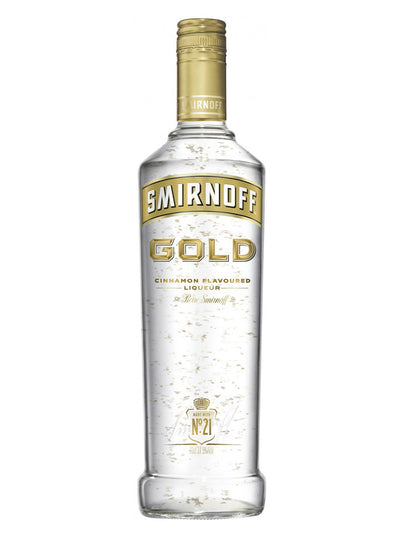 Smirnoff Gold Cinnamon Flavoured Liqueur Vodka With Gold Leaf 1L