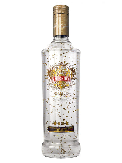 Smirnoff Gold Cinnamon Flavoured Liqueur Vodka With Gold Leaf 700mL