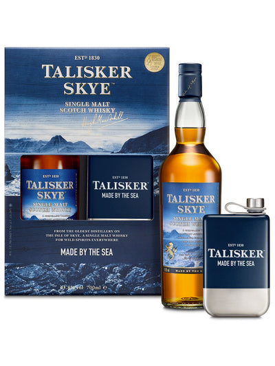 Talisker Skye + Hip Flask Gift Pack Single Malt Scotch Whisky 700mL
