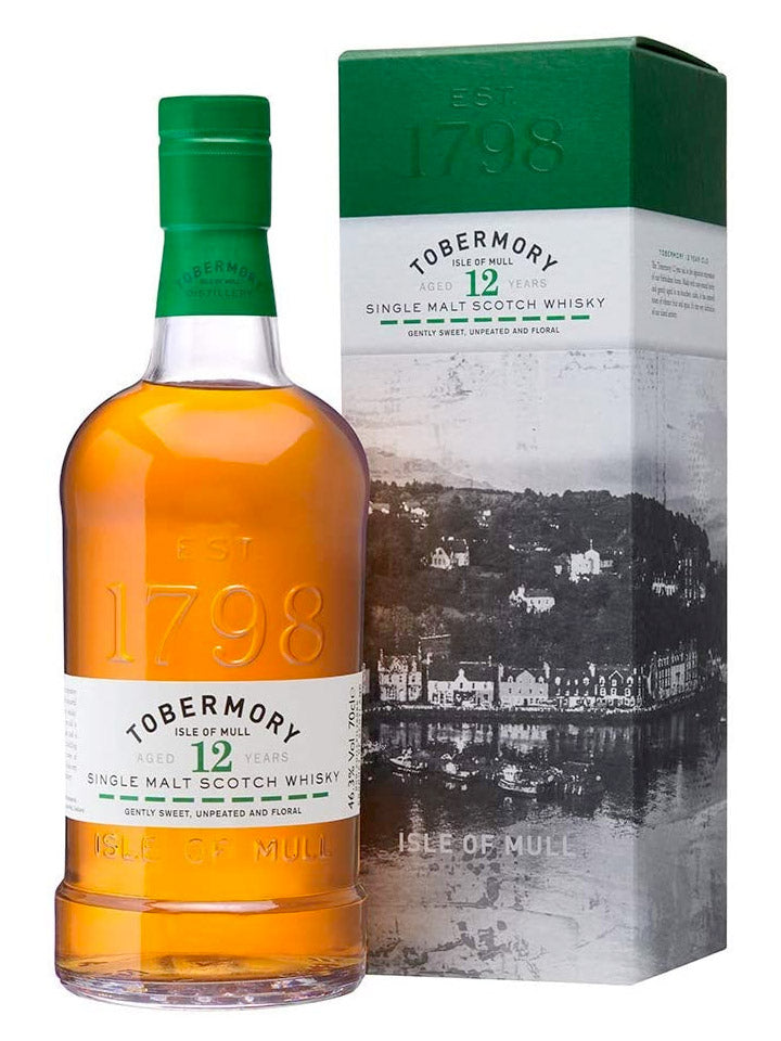 Tobermory 12 Year Old Single Malt Whisky 700mL