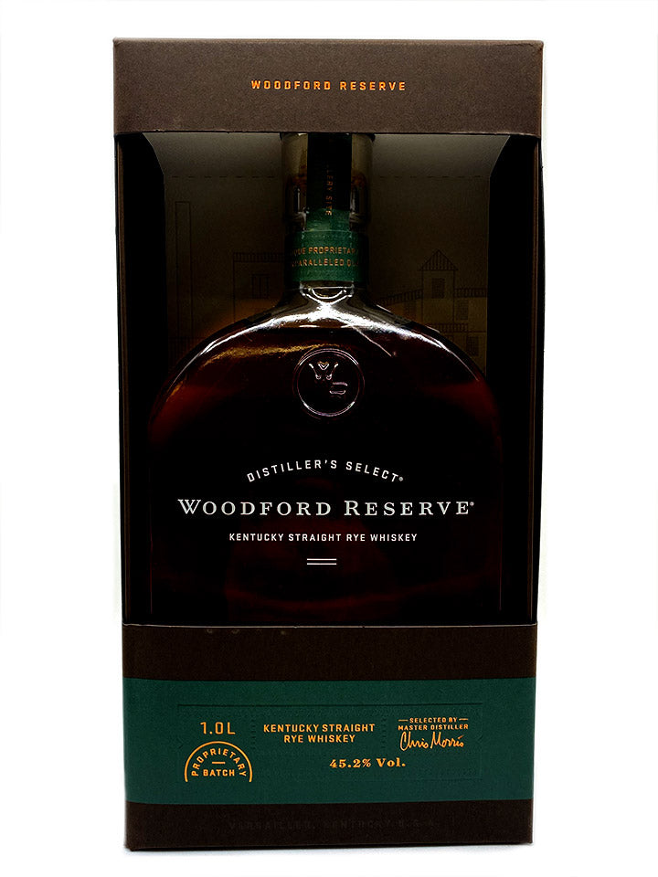Woodford Reserve Kentucky Straight Rye Whiskey With Gift Box 1L