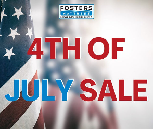 4th of July sale image with flag