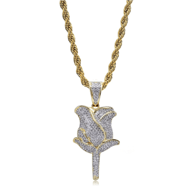 Flower Petals Pendant - ICEY Jewelry - Iced Out High Quality Afforable Jewelry
