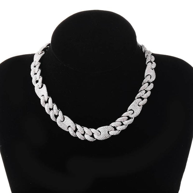 16mm Miami Box Clasp Cuban Link Chain - ICEY Jewelry - Iced Out High Quality Afforable Jewelry