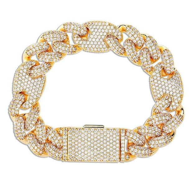 Iced Out Gucci Link Cuban Bracelet - ICEY Jewelry - Iced Out High Quality Afforable Jewelry
