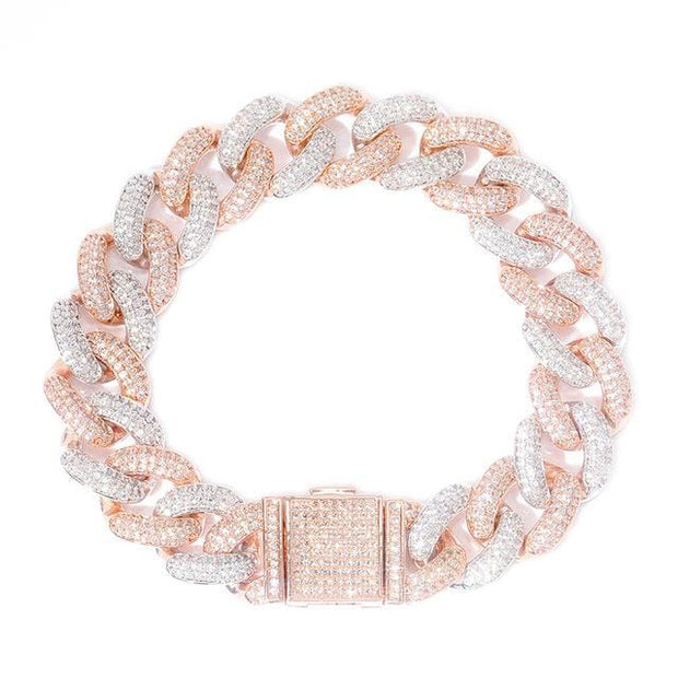 14mm Iced Out Miami Cuban Link Bracelet - ICEY Jewelry - Iced Out High Quality Afforable Jewelry