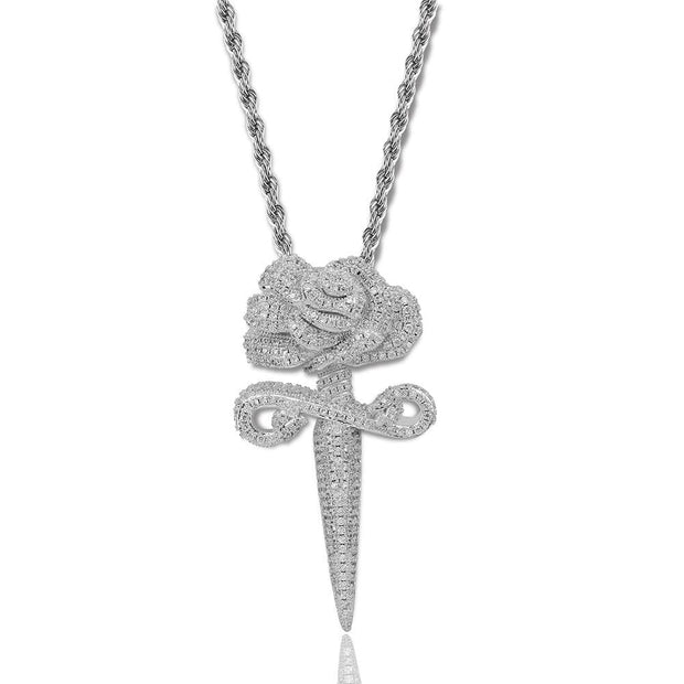 Iced Out Flower Pendant - ICEY Jewelry - Iced Out High Quality Afforable Jewelry