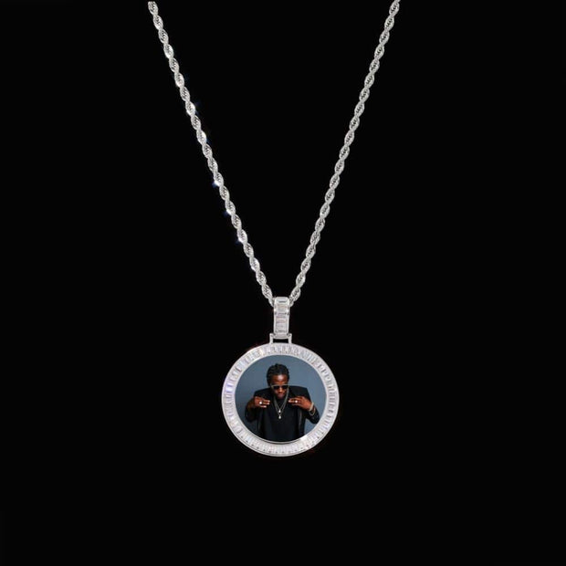 Custom Iced Out Photo Baguette Circle Pendant - ICEY Jewelry - Iced Out High Quality Afforable Jewelry