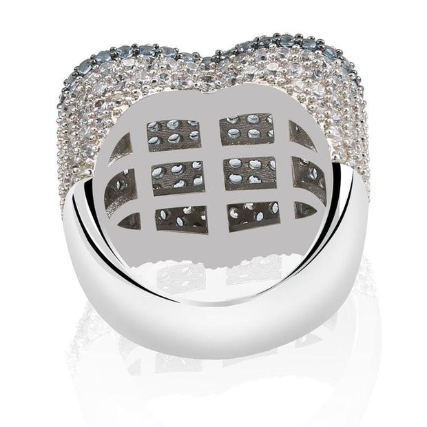 Love Heart Iced Out Ring - ICEY Jewelry - Iced Out High Quality Afforable Jewelry