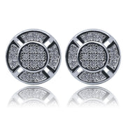 Ziplo Round Stud Earrings - ICEY Jewelry - Iced Out High Quality Afforable Jewelry