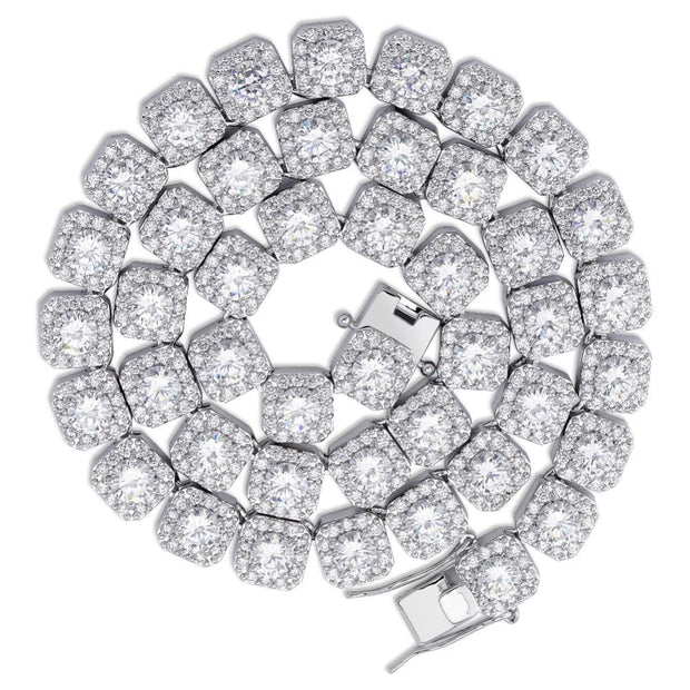 10MM Prong Set Solitaire Tennis Chain